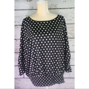 Michael Kors Black and White Polka Dot Blouse